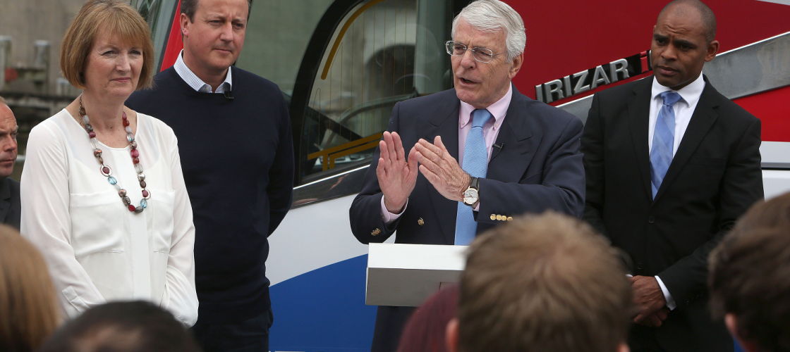 John Major speaks in Bristol