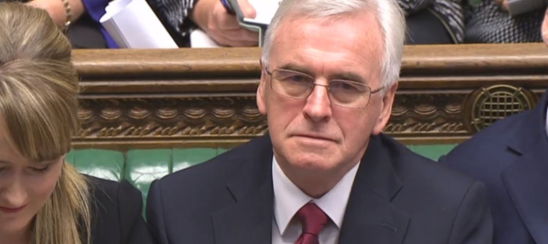 John McDonnell in the House of Commons for the Autumn Statement