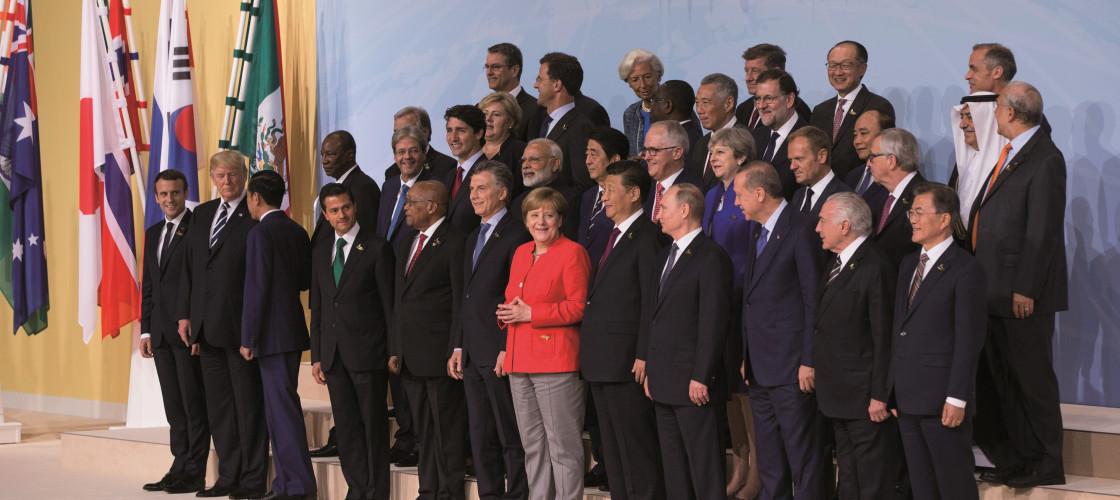 Leaders of the G20 meeting in Germany last year