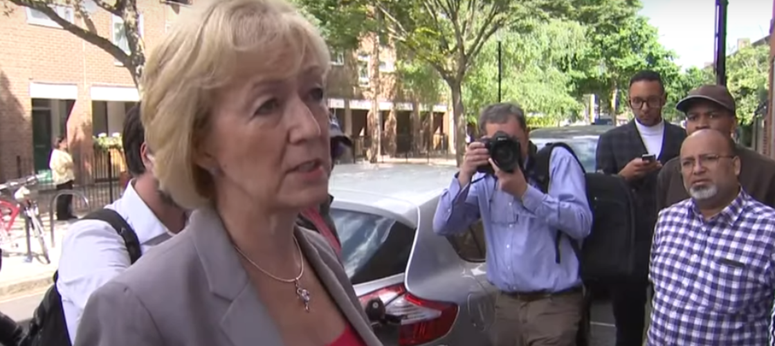 Andrea Leadsom at Grenfell Tower