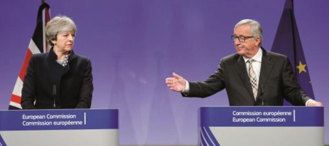 Jean-Claude Juncker and Theresa May this week