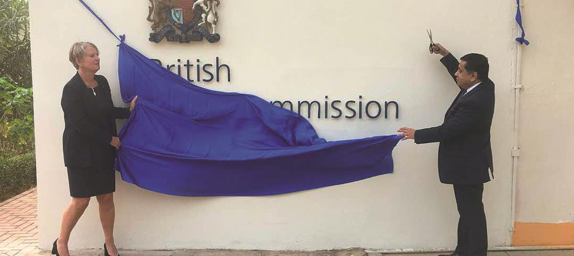 Lord Ahmad opens the British High Commission in the Gambia, following the country's re-entry to the Commonwealth