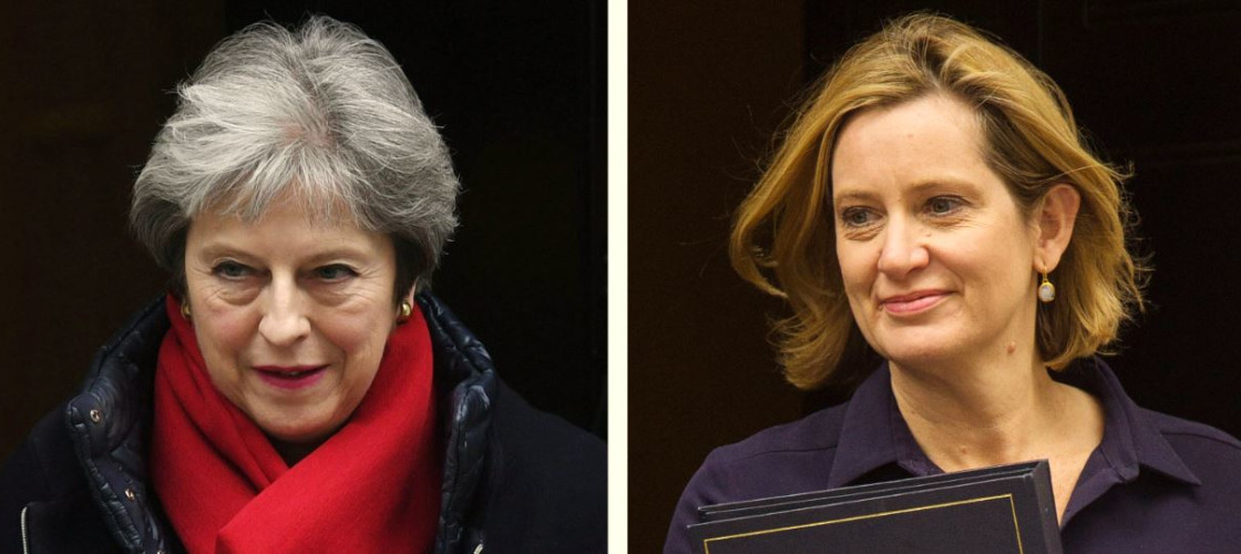 Theresa May and Amber Rudd READ IN