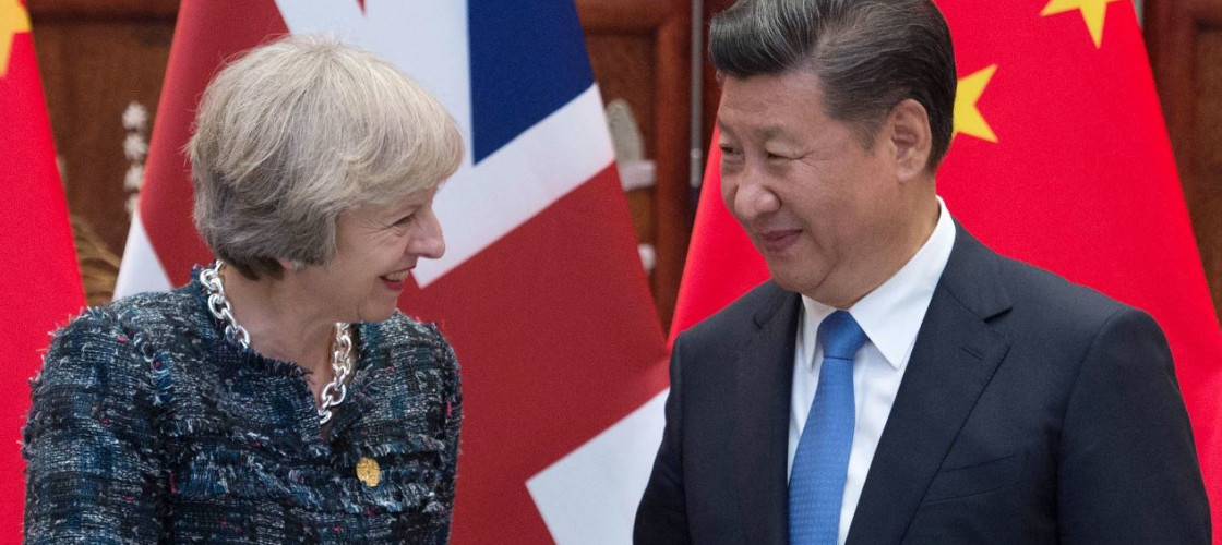Theresa May meets Chinese president Xi Jinping at the G20 summit in September