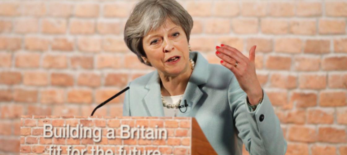 Theresa May bricks