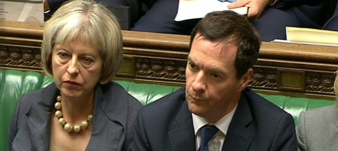 Theresa May and George Osborne back when they got on slightly better