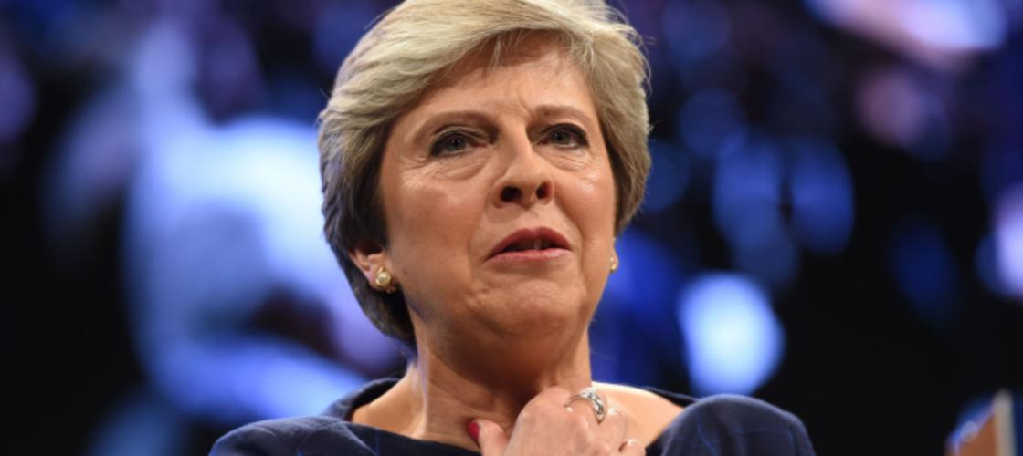 Theresa May throat