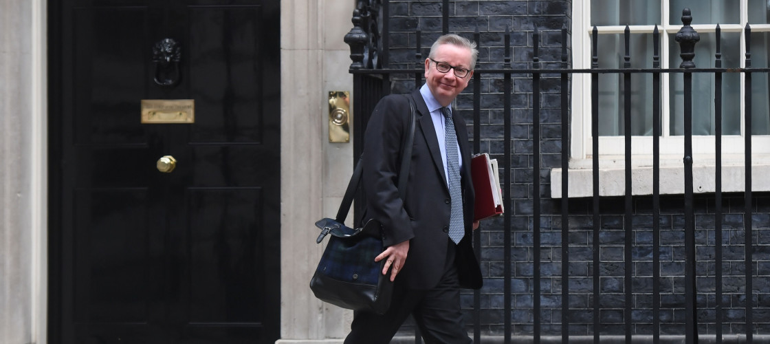 Michael Gove leaves Downing Street