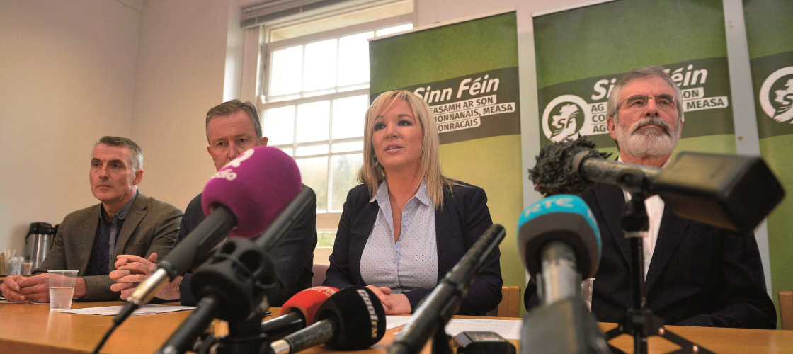 Michelle O'Neill is the leader of Sinn Féin in the Northern Ireland Assembly