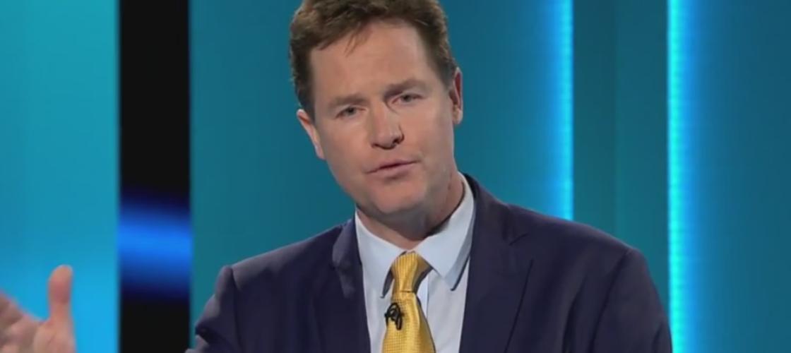 Former deputy prime minister Nick Clegg