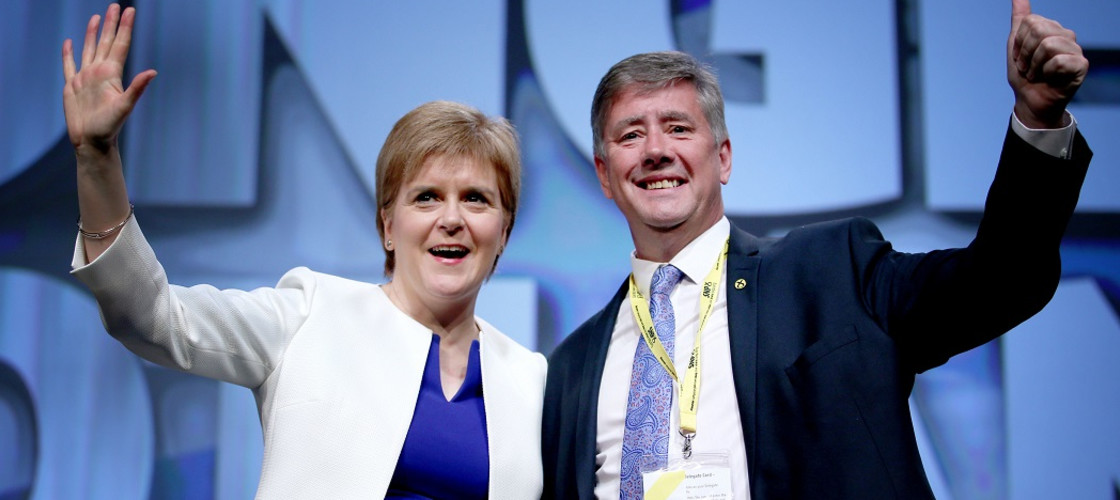 Nicola Sturgeon and Keith Brown