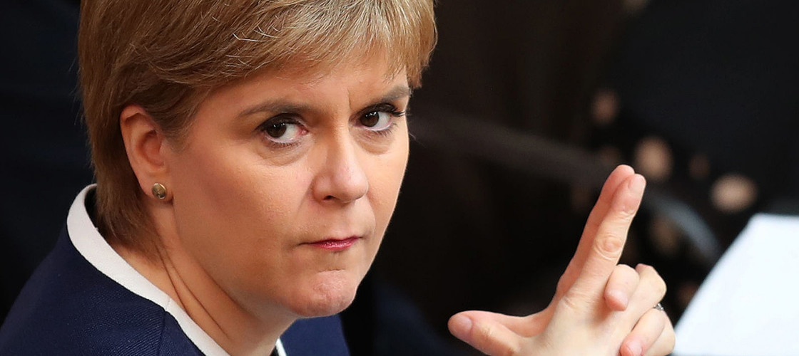 Nicola Sturgeon at First Minister's Questions this week