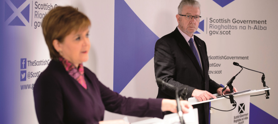 Nicola Sturgeon and Scottish Brexit Minister Michael Russell