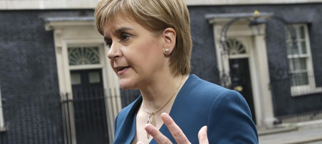 Nicola Sturgeon outside Number 10