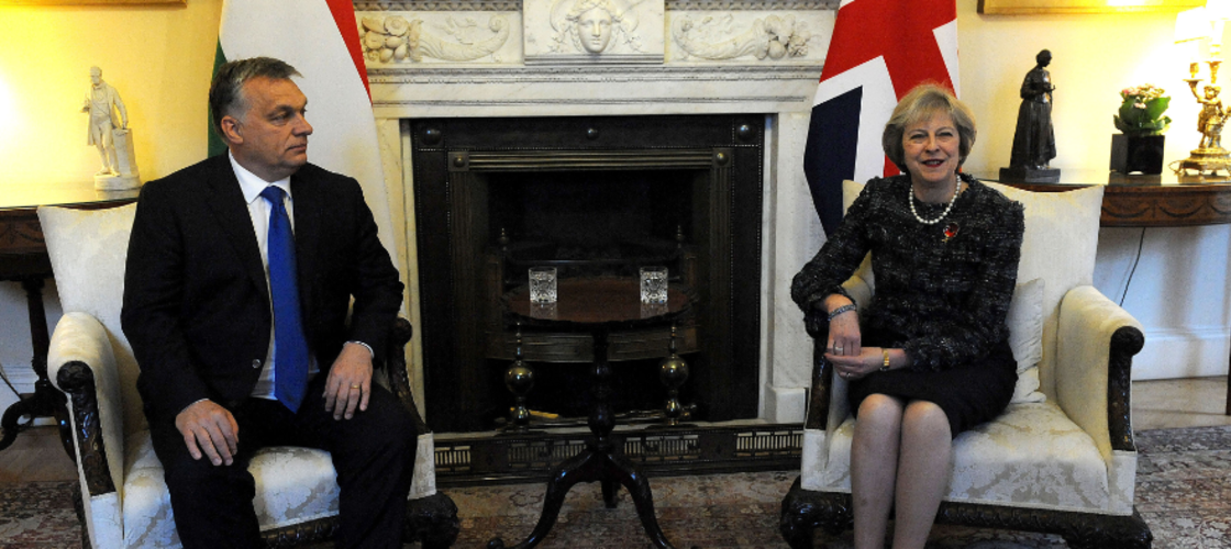 Viktor Orban and Theresa May