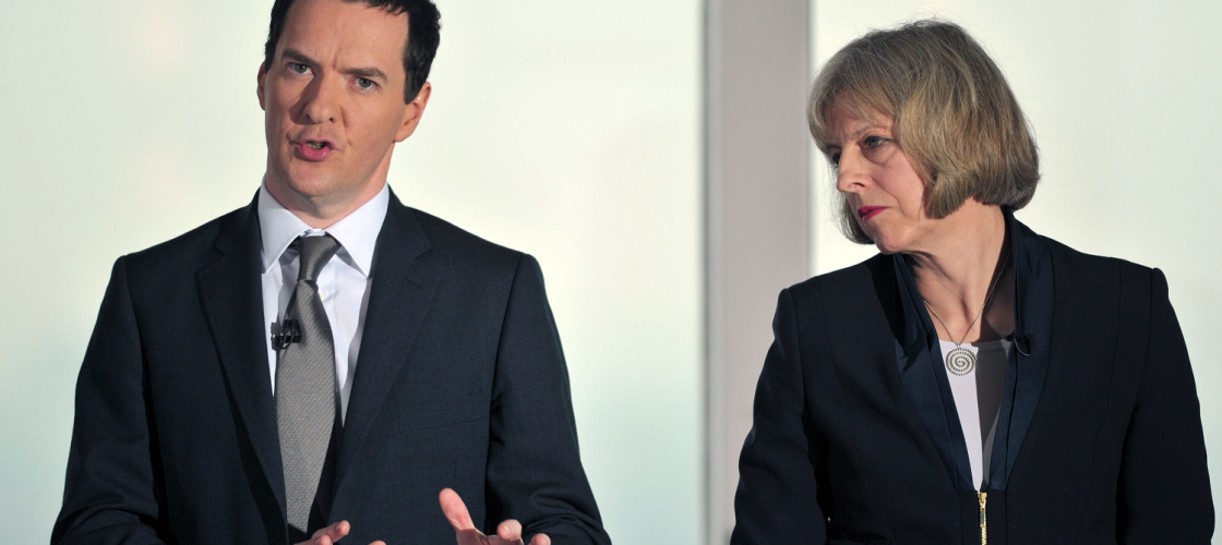George Osborne and Theresa May campaigning in 2015