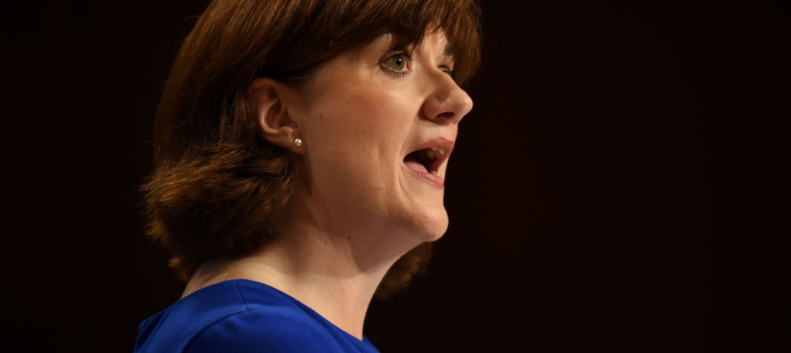 Nicky Morgan speaks at an event