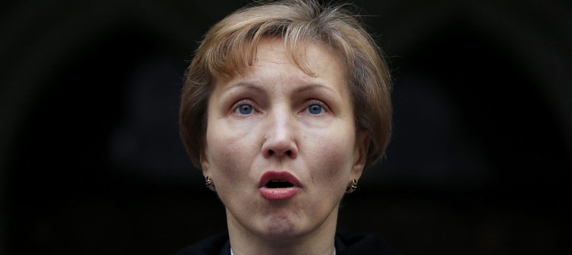 Marina Litvinenko, the wife of former Russian spy Alexander Litvinenko