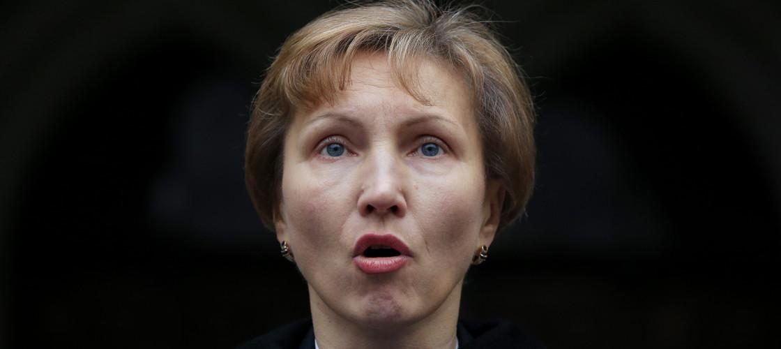 Marina Litvinenko, the wife of former Russian spy Alexander Litvinenko