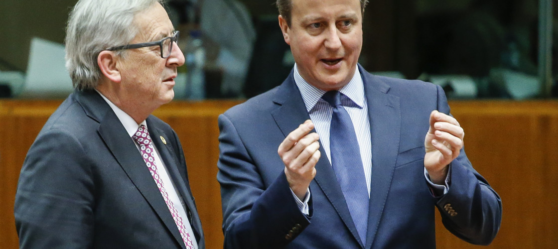 Jean-Claude Juncker implied he and Mr Cameron were now on better terms