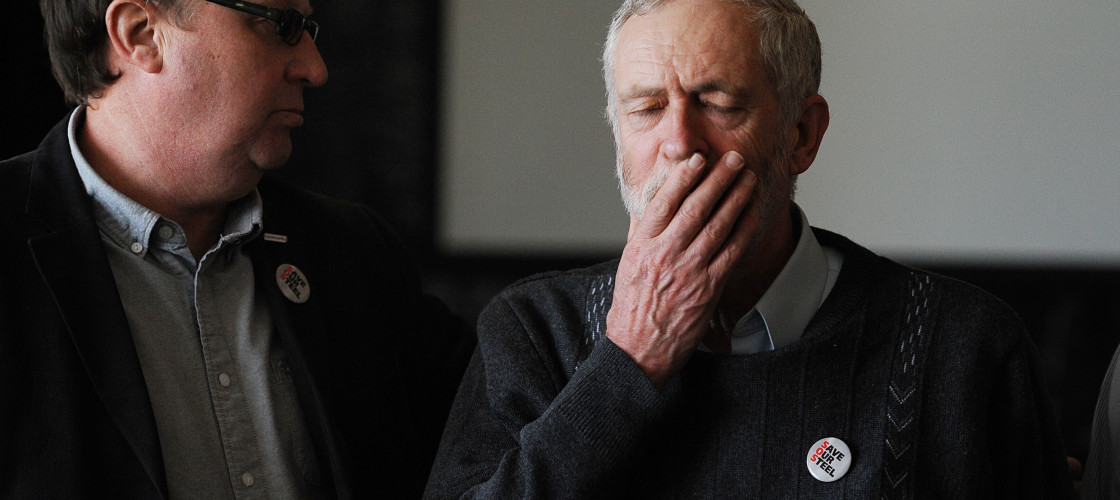 Jeremy Corbyn facing Shadow Cabinet walkout