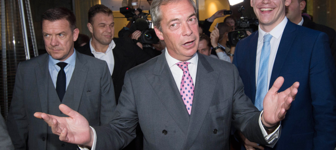 Nigel Farage said Brexit was only the start of a popular revolt against Brussels