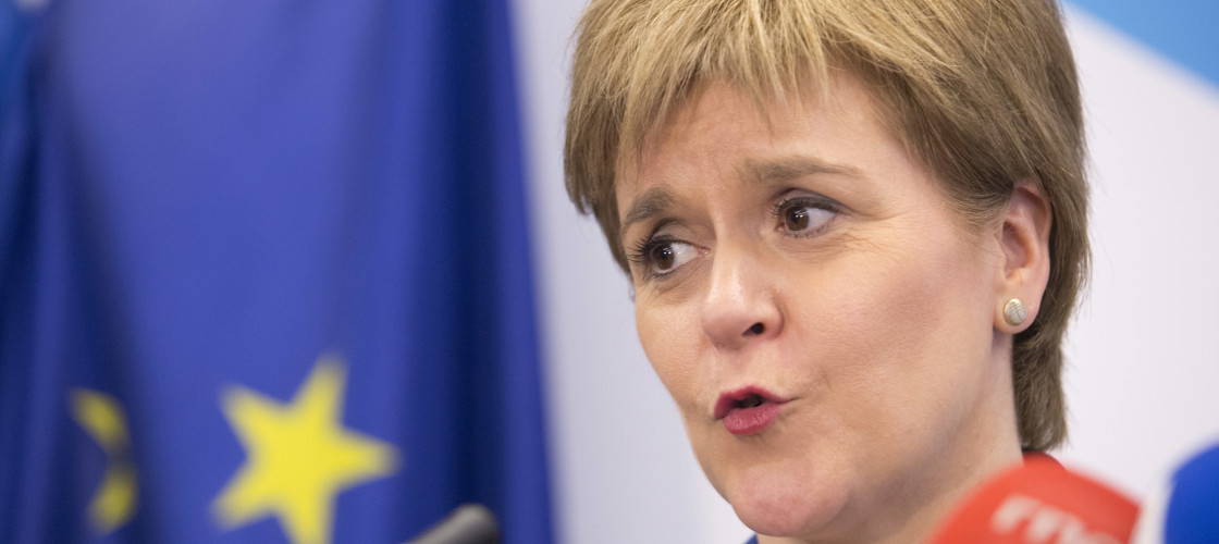 Nicola Sturgeon in Brussels last week