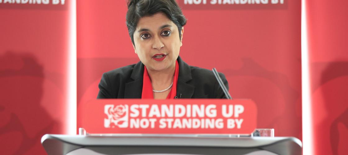 Baroness Chakrabarti speaking at Labour's anti-semitism report launch