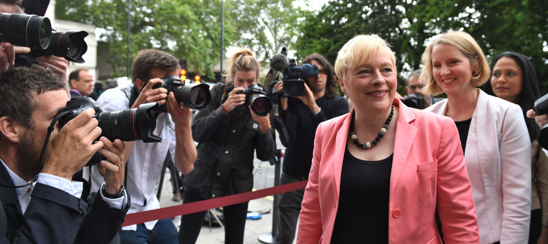 Angela Eagle pictured at the launch of her bid for the Labour leadership in July