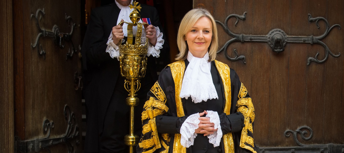 Liz Truss shortly after being named the first ever female Lord Chancellor