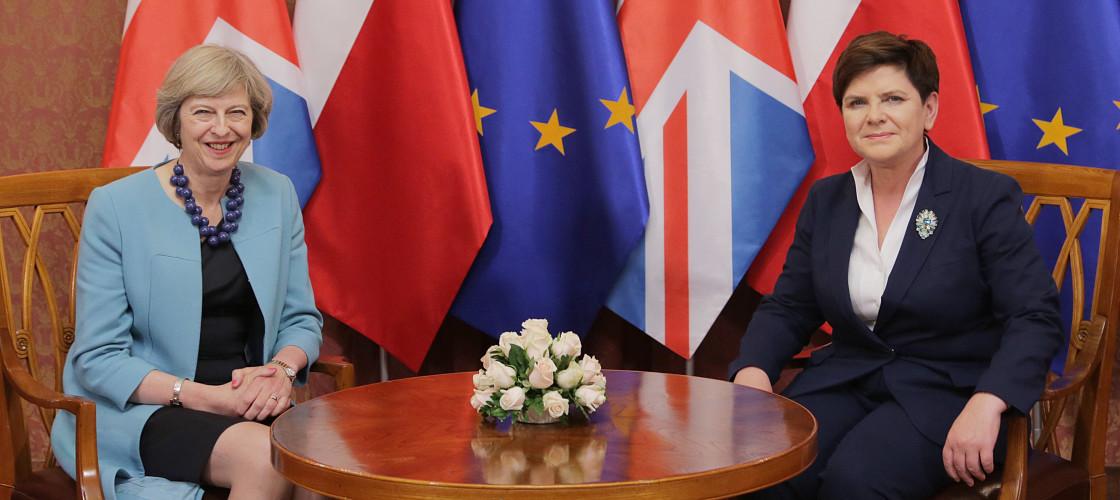 Theresa May in Poland