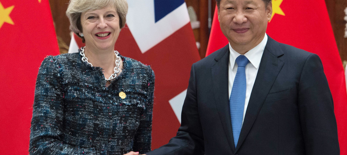 Theresa May and Xi Jinping pictured during last year's G20 summit in China