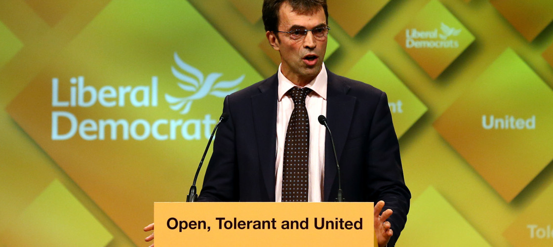 Tom Brake addressing the Liberal Democrats' conference