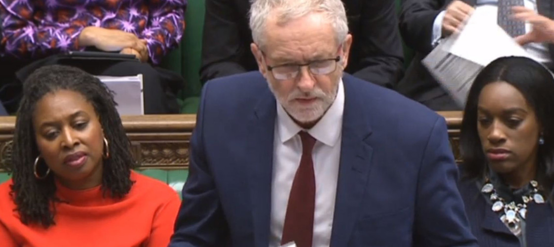 Jeremy Corbyn takes on Theresa May at PMQs