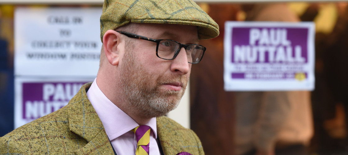 Paul Nuttall outside Ukip HQ