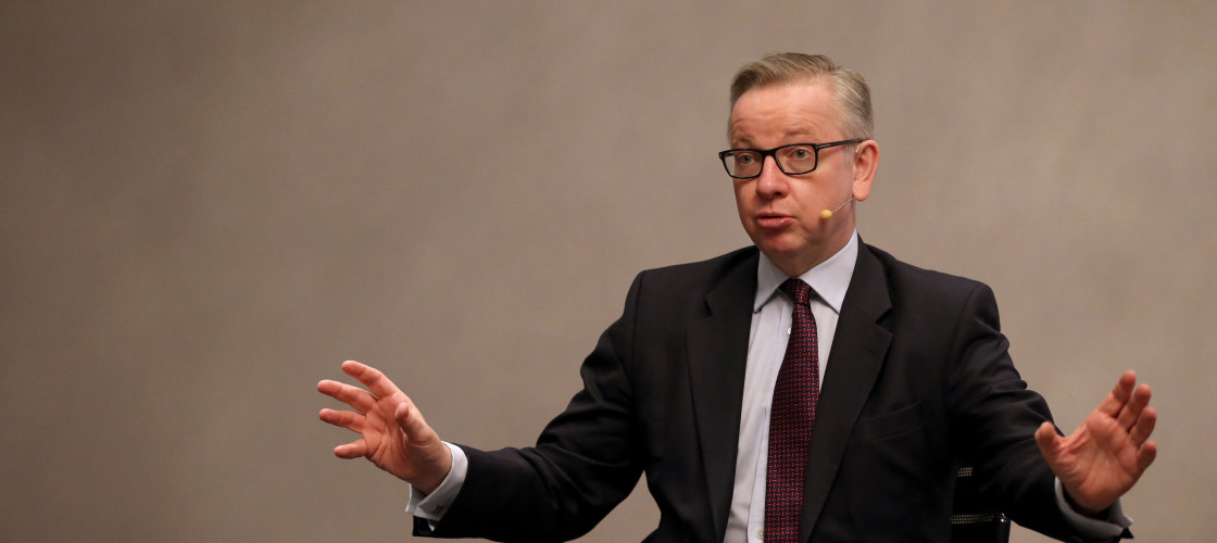 Michael Gove speaking at an event in Dublin earlier this year