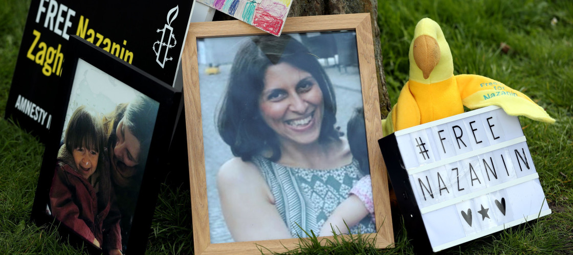 A photo of Nazanin Zaghari-Ratcliffe, at Fortune Green, West Hampstead, to mark 365 days since British-Iranian mother, Nazanin Zaghari-Ratcliffe was imprisoned in Tehran.