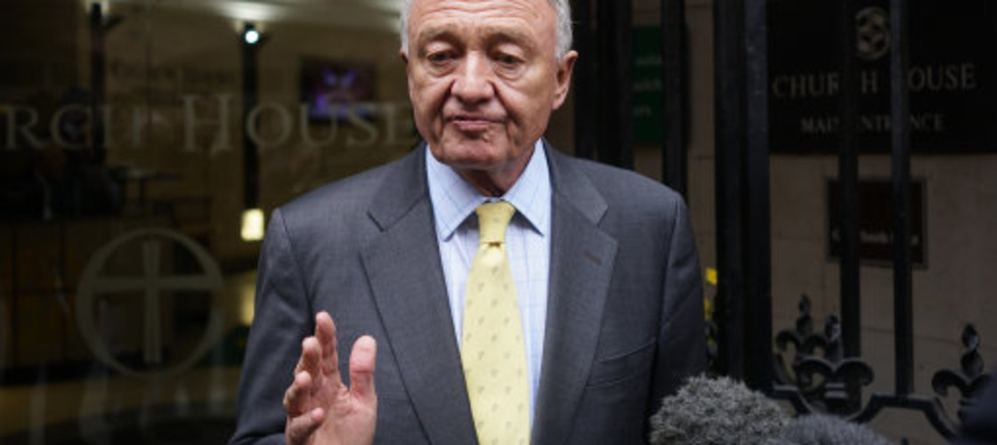 Ken Livingstone arriving at yesterday's disciplinary hearing