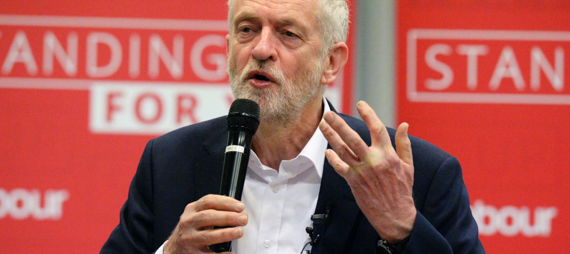 Jeremy Corbyn speaking in Birmingham yesterday