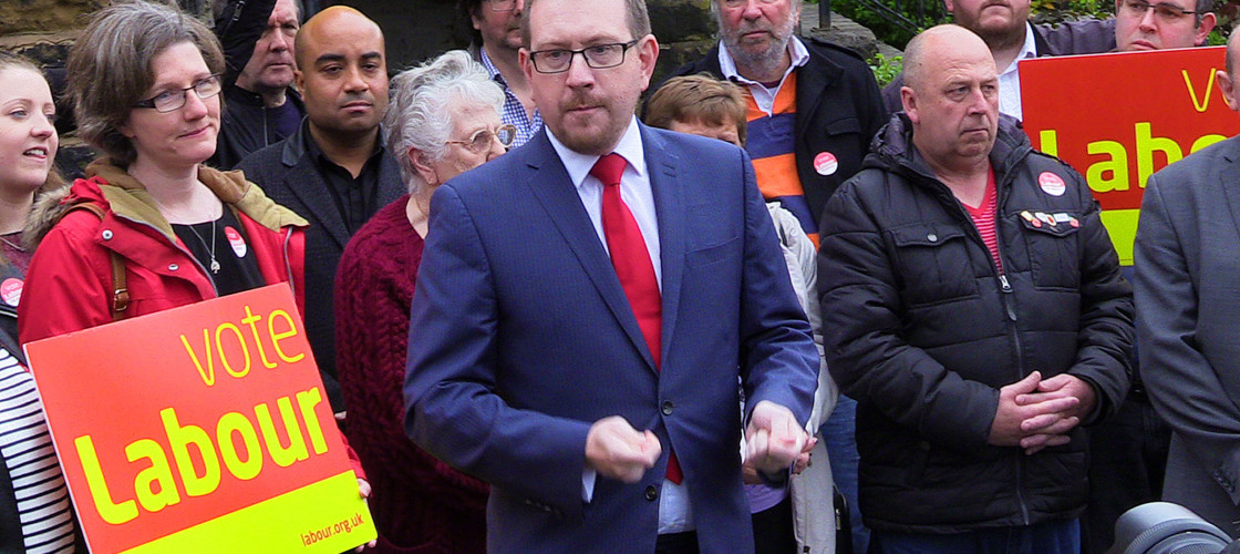 Andrew Gwynne campaigning in west Yorkshire