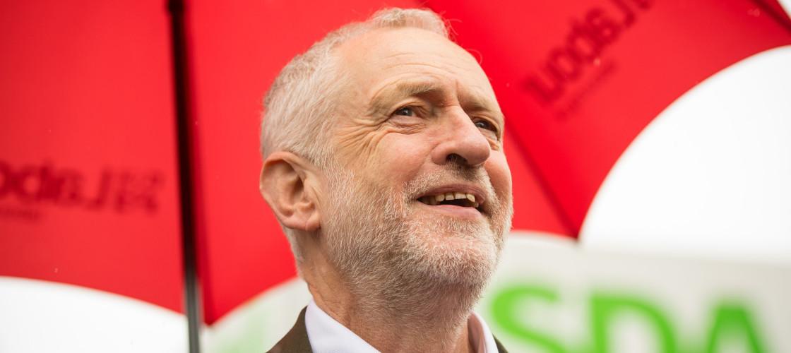 Jeremy Corbyn campaignin south London on Monday