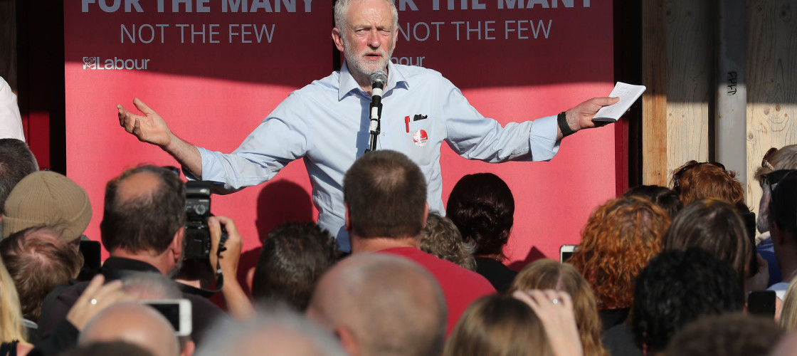 Jeremy Corbyn campaigning in Yorkshire this week