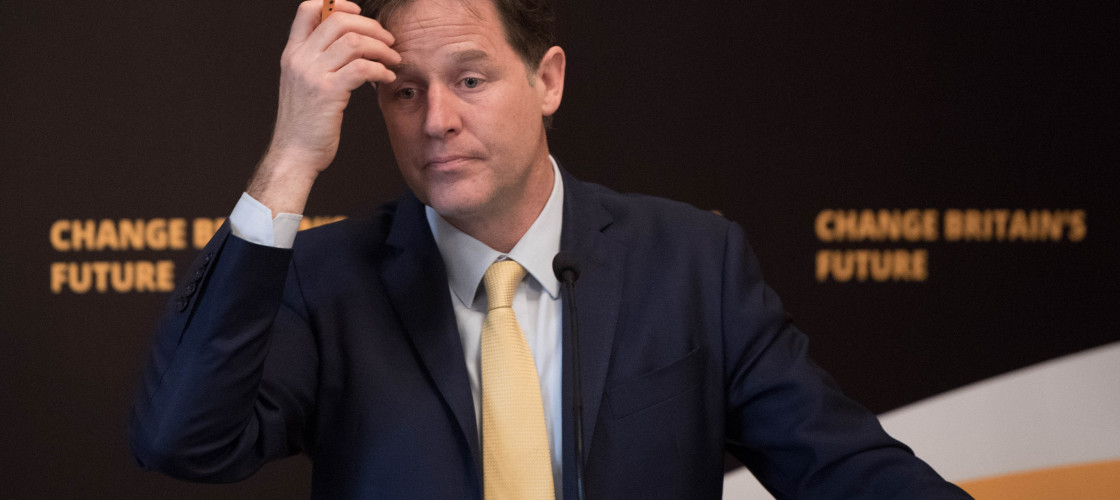 Nick Clegg pictured last month