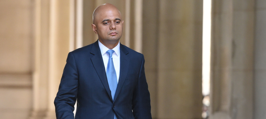 Communities Secretary Sajid Javid arrives at Downing Street in London.