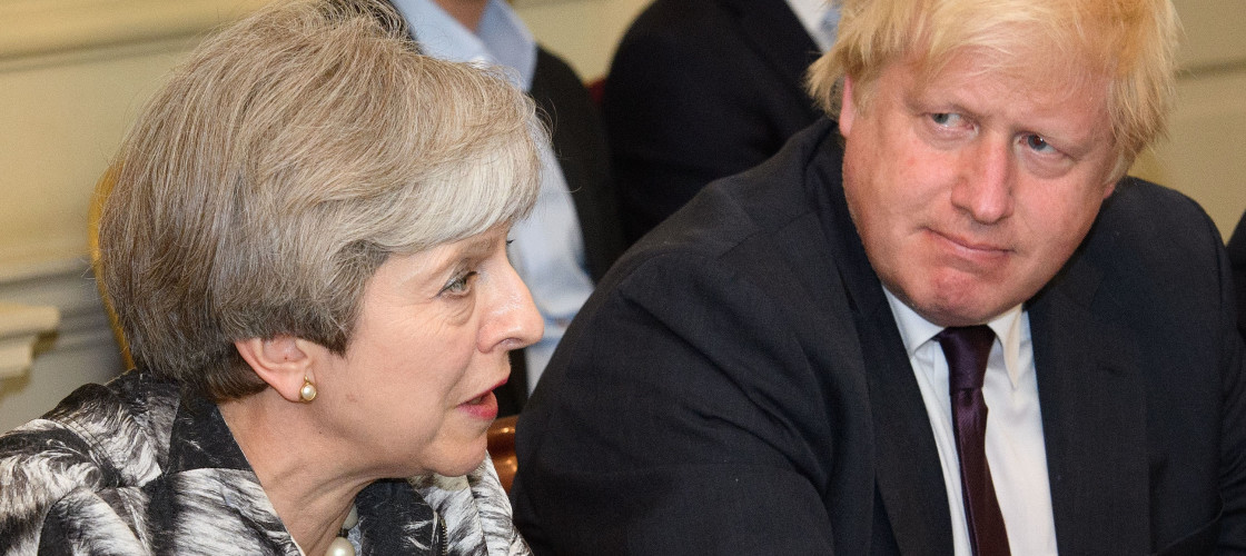 Prime Minister Theresa May and Foreign Secretary Boris Johnson