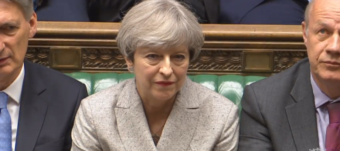Theresa May at the first Commons sitting of the new Parliament earlier this week