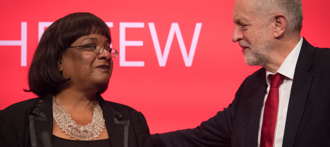 Diane Abbott and Jeremy Corbyn