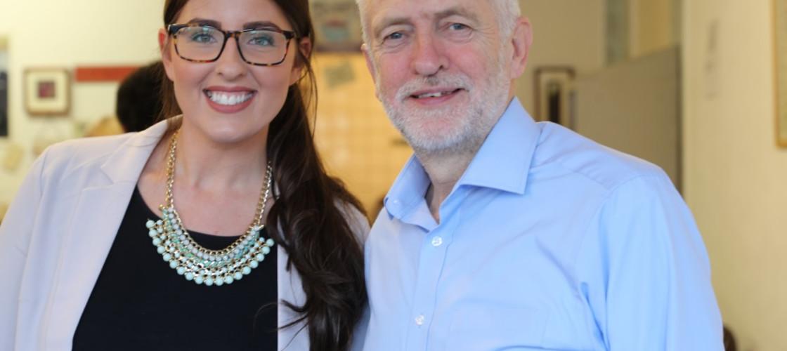 Laura Pidcock & Jeremy Corbyn
