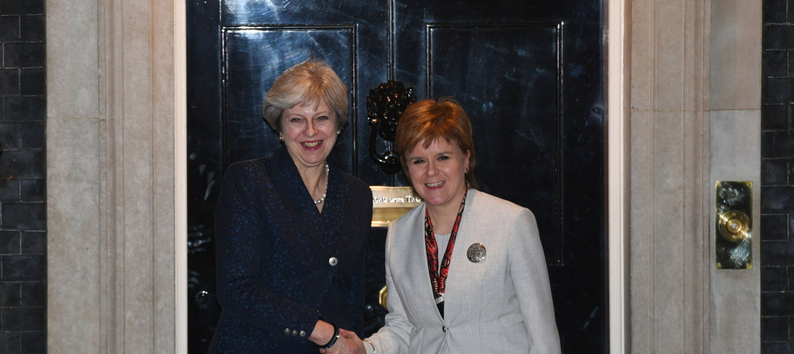 Theresa May meeting Nicola Sturgeon in November