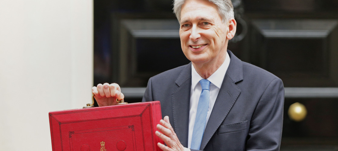Philip Hammond outside Downing St before last year's Budget